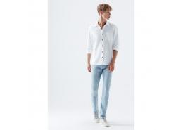 Marcus Premium Erkek Açık Mavi Kot Pantolon