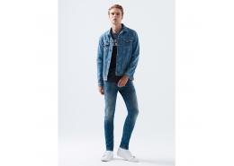 James Amsterdam Comfort Erkek Mavi Jean Pantolon
