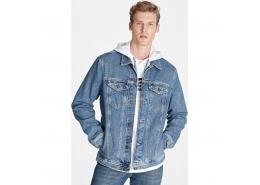 Drake Vintage Comfort Erkek Mavi Jean Ceket
