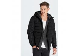 Kapüşonlu Ceket Siyah