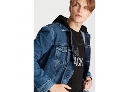 Mavi Jeans Justin Black Pro Erkek Gölge Mavi Jean Ceket