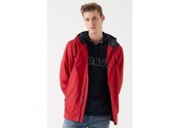Kapüşonlu Erkek Kırmızı Ceket (010240-30644)