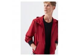 Mavi Jeans Erkek Kapüşonlu Kırmızı Ceket