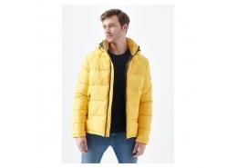 Kapüşonlu Erkek Sarı Şişme Mont (010310-32173)
