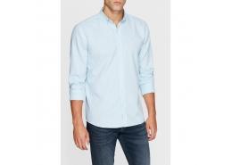 Erkek Cepsiz Çin Mavisi Gömlek