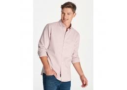Erkek Kış Pembesi Oxford Gömlek