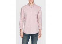 Erkek Cepsiz Pembe Oxford Gömlek