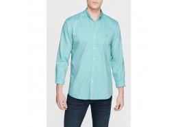Cepsiz Yeşil Erkek Oxford Gömlek