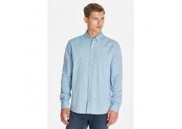 Erkek Cepsiz Mavi Oxford Gömlek (%100 Pamuk)