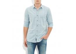 Mavi Jeans Açık Duman Kareli Erkek Gömlek