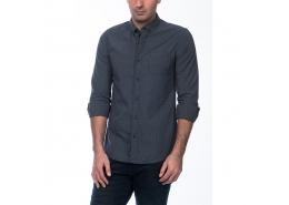 Jakarlı Erkek Lacivert Gömlek (020500-23121)