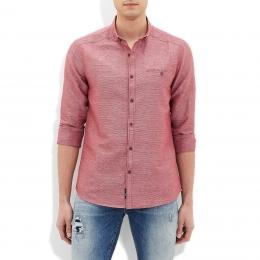 Yakası Düğmeli Erkek Pembe Gömlek (020531-23076)