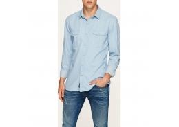 Uzun Kol Gömlek Soluk Mavi