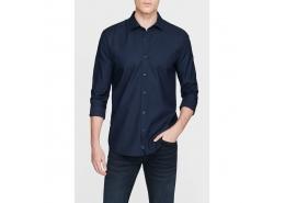 Erkek Cepsiz Lacivert Gömlek (%100 Pamuk)