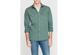 Mavi Jeans Çift Cepli Yaprak Yeşili Gömlek