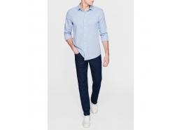 Uzun Kol Gömlek Çin Mavisi