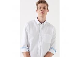 Tek Cepli Erkek Beyaz Gömlek (021436-620)