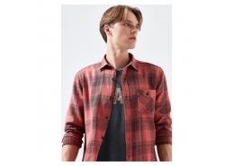 Kareli Erkek Kırmızı Gömlek (021603-32309)