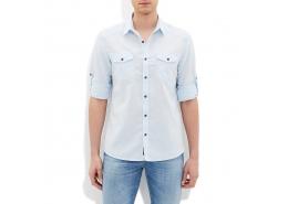 Mavi Jeans Çift Çepli Erkek Açık Mavi Gömlek