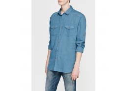 Mavi Jeans Çift Cepli Erkek Keten Gömlek
