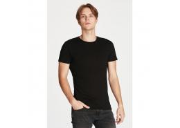 Erkek Siyah Basic Tişört (061747-900)