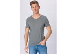 Mavi Erkek Düz Nil Yeşili Basic Tişört