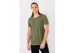 Mavi Erkek Yeşil Basic Günlük Tişört