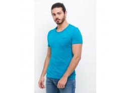 Mavi Erkek Deniz Yeşili Basic Günlük Tişört
