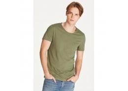 Mavi Erkek Basic Düz Yeşil Günlük Tişört