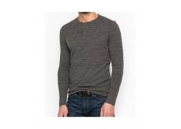 Mavi Jeans Düğme Detaylı Erkek Gri Sweatshirt