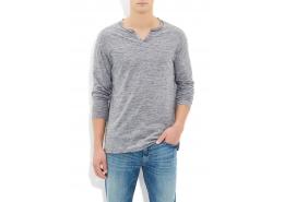 Mavi Jeans Düğmeli̇ Yaka Erkek Gri Kazak