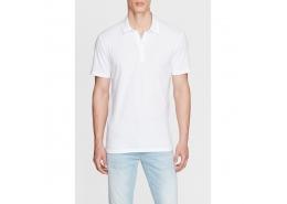 Polo Yaka Erkek Beyaz Ti̇şört  (064900-620)