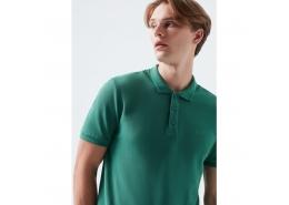 Mavi Jeans Erkek Yeşil Polo Yaka Tişört