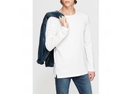 Mavi Jeans Uzun Kollu Erkek Beyaz Tişört (065118-620)