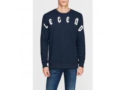 Legend Baskılı Erkek Lacivert Sweatshirt (065127-26828)