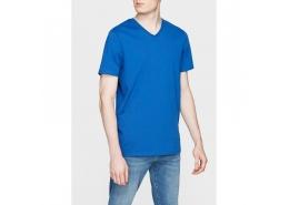 Mavi Jeans V Yaka Parlak Mavi Erkek Tişört