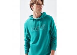 Logo Baskılı Kapüşonlu Sweatshirt (065606-32449)