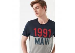 Mavi Logo Baskılı Blok Renkli Tişört (065651-28417)