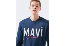 Mavi Logo Baskılı Erkek Lacivert Sweatshirt