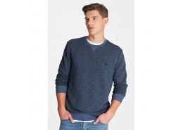 Erkek Mavi Kapüşonsuz Sweatshirt (065574-620)