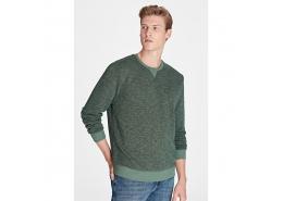 Kapüşonsuz Erkek Yeşil Sweatshirt (065761-29815)