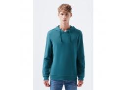 Kapüşonlu Erkek Yeşil Sweatshirt (065779-31966)