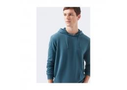 Kapüşonlu Erkek Mavi Sweatshirt (065779-32453)