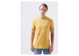 Logo Baskılı Erkek Sarı Tişört (065781-32456)