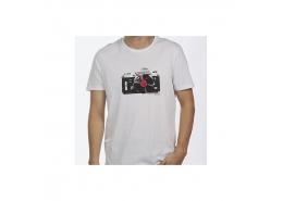 Voice Baskılı Erkek Beyaz Tişört (066046-620)