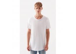 Bisiklet Yaka Erkek Beyaz Tişört (066084-620)