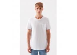 Erkek Beyaz Basic Tişört (066127-620)