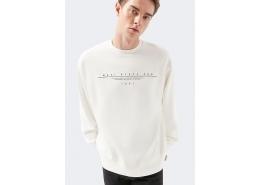 Logo Baskılı Black Pro Beyaz Sweatshirt (066264-32158)