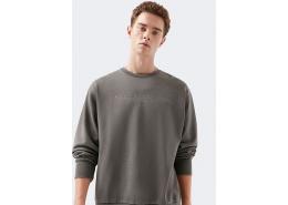 Logo Baskılı Black Pro Gri Sweatshirt (066264-900)