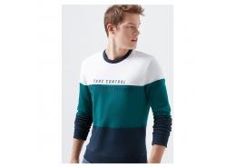 Baskılı Erkek Beyaz Sweatshirt (066365-620)